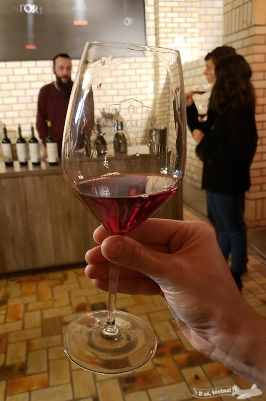 Cor maravilhosa do vinho na Casa Valduga.