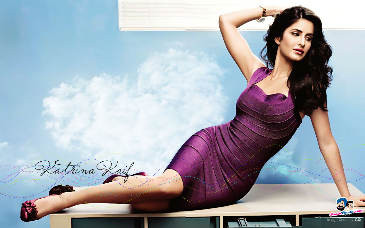 Lucy Nine Hot And Sexy Katrina Kaif Wallpaper-8454