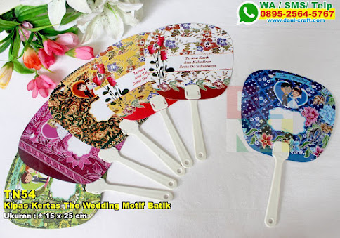 Kipas Kertas The Wedding Motif Batik