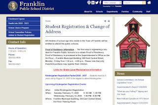 In the News: kindergarten registration for Franklin Public Schools