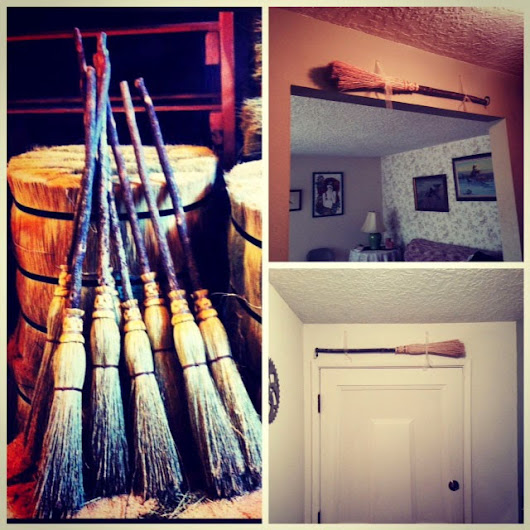 The Perfect Broom for Hanging Over the Door