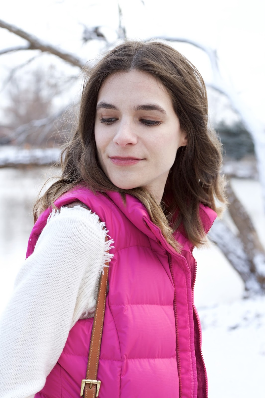 Brightly colored winter vest