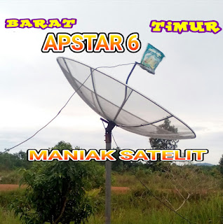 CARA TRACKING SATELIT APSTAR 6