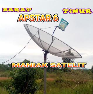 CARA TRACKING SATELIT APSTAR 6