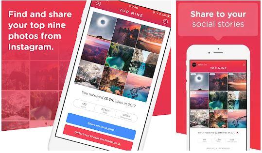 Download Aplikasi Best Nine di Instagram