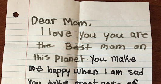 A Note Left for Mom