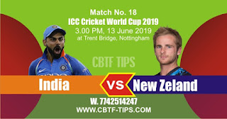 World Cup 2019 Match Prediction Tips by Experts Ind vs NZL