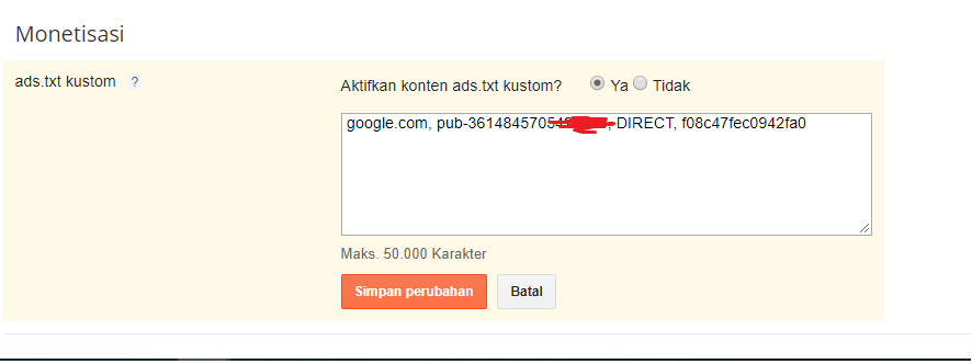mengaktifkan Ads.txt pada Blogger