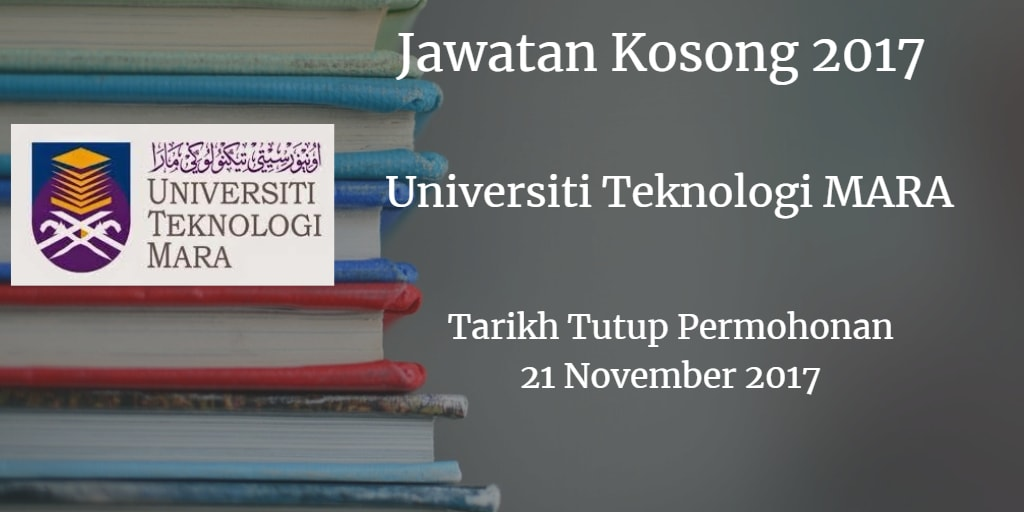 Jawatan Kosong UiTM 21 November 2017