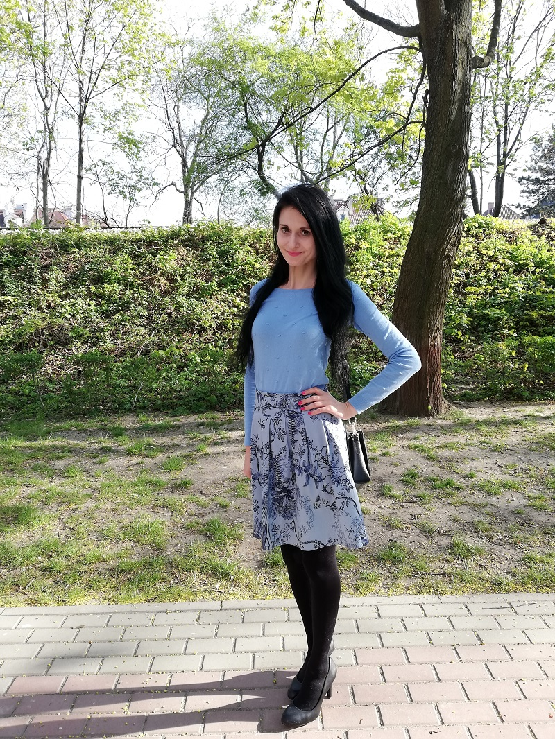 Orsay minispódniczka w niebieskie kwiaty