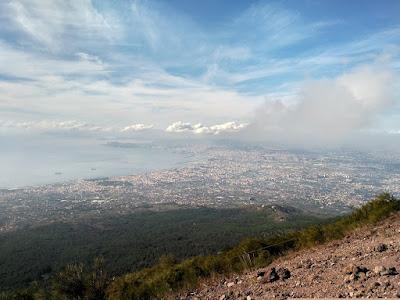 vistas nápoles desde volcán vesubio