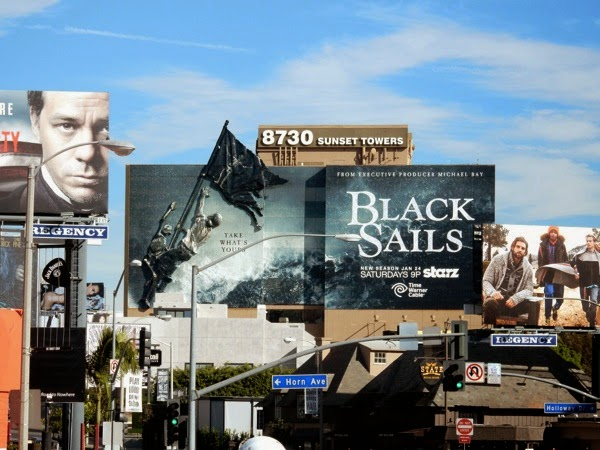 3D Black Sails season 2 billboard Sunset Strip