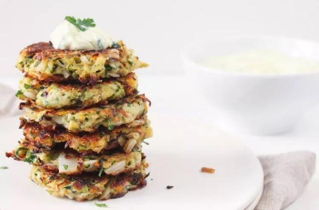 Vegetable Fritters #vegetarian #appetizers