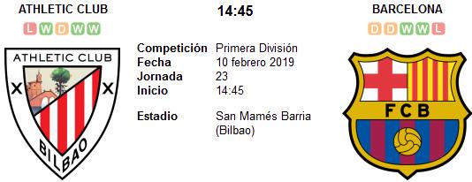 Barcelona vs Athletic Bilbao en VIVO