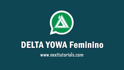DELTA YOWA Feminino v3.7.1 Apk Latest Version Android,instal Aplikasi YOWhatsApp fem Update Terbaru 2021,tema whatsapp keren,wa mod anti banned,