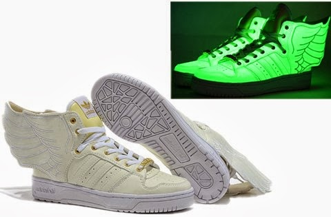 reputable site 96d70 2577b ... White Jeremy Scott Adidas JS Wings Glow In the Dark Sneakers For Sale  UKShop  Jeremy Scott Adidas JS Wings characteristics ¯x peace ...