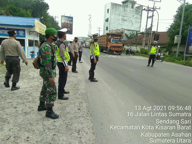 Posko PPKM Dilaksanakan Personel Jajaran Kodim 0208/Asahan Diwilayah Binaan