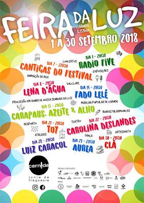 Programa Feira da Luz 2018 em Carnide, Lisboa