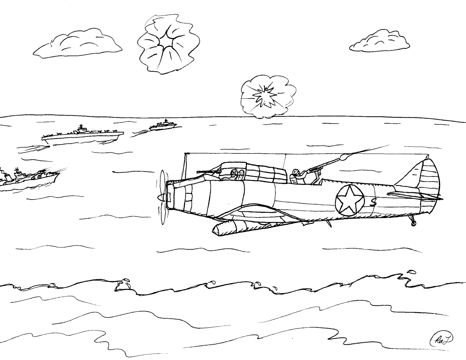 Robin S Great Coloring Pages Battle Of Midway 75th