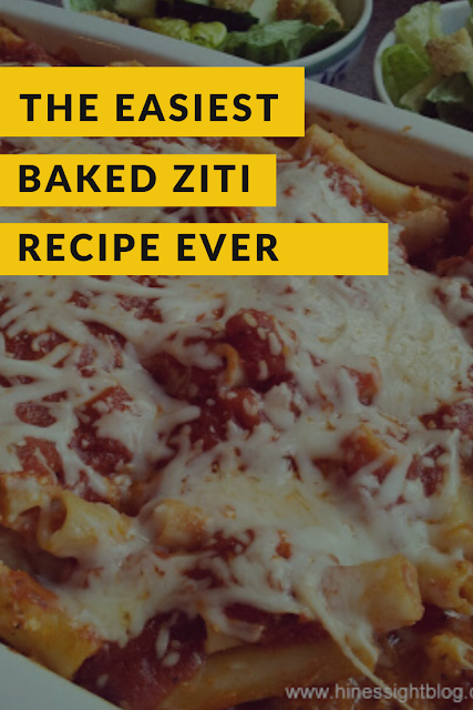 Baked ziti: Easy casserole for a crowd: Pasta, Cheese and Sauce #pastarecipes