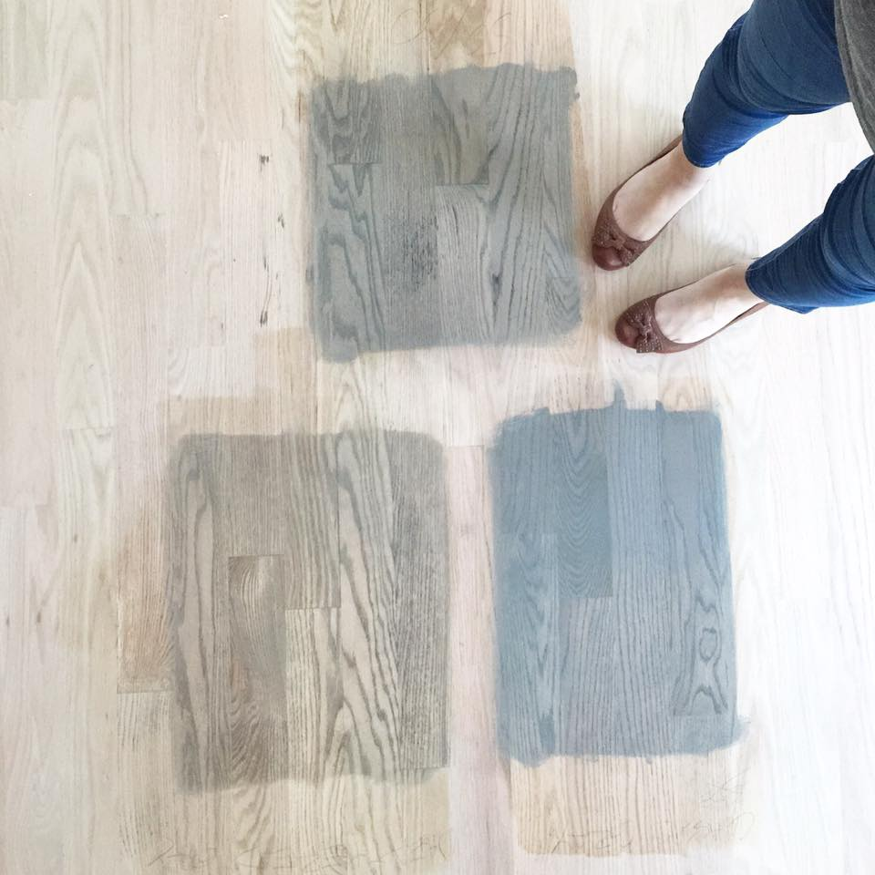 Staining Hardwood Floors Grey Home