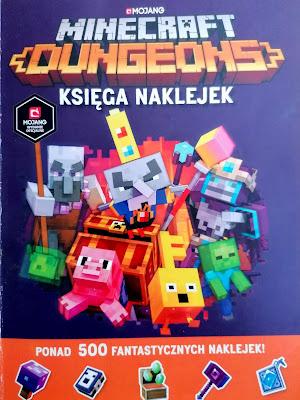Minecraft: Dungeons- łamigłówki z naklejkami