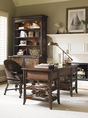 Tropical Wood Desk by Sligh at Baer's Furniture