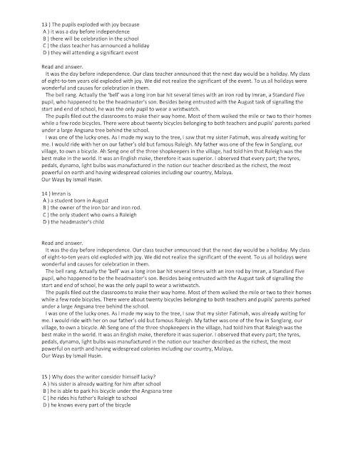 Contoh Soalan Peperiksaan SPA Pembantu Tadbir (Perkeranian/Operasi) N19 Sesi 2 2019