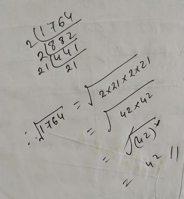 1764 ৰ বৰ্গমূল নিৰ্ণয় কৰা