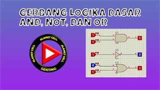 gerbang logika dasar not, or, and