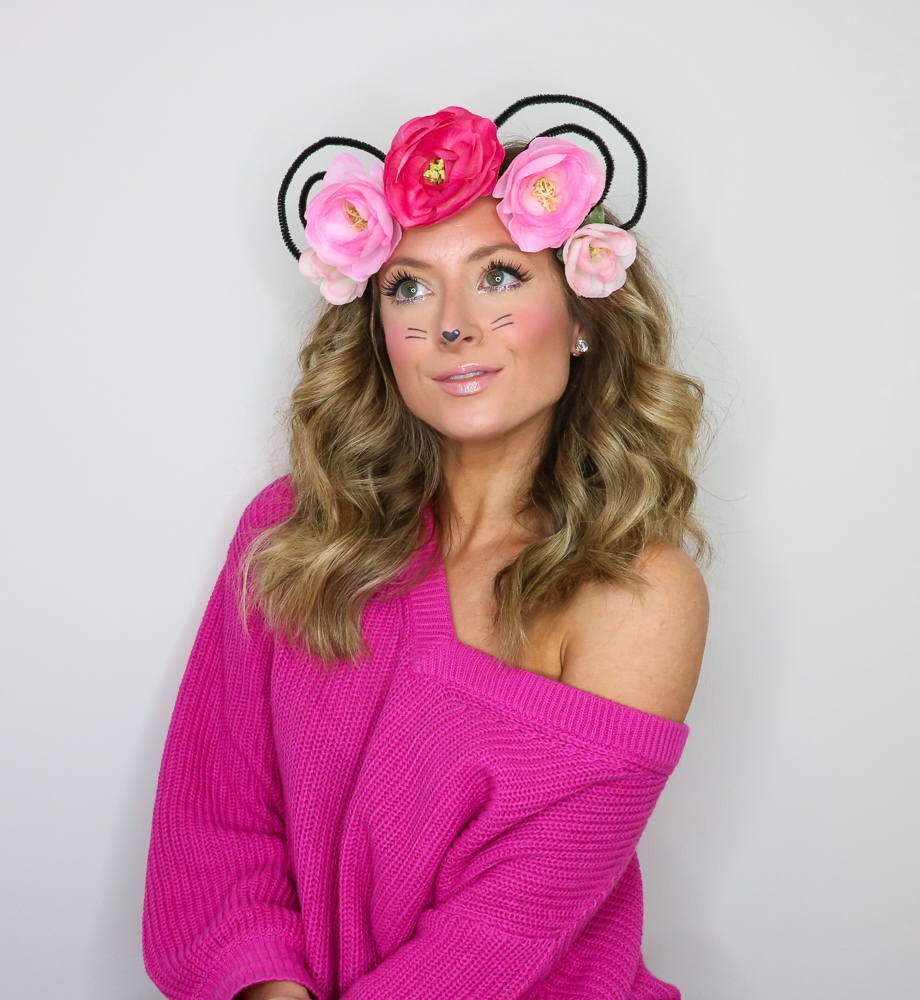 snapchat flower crown mouse filter costume