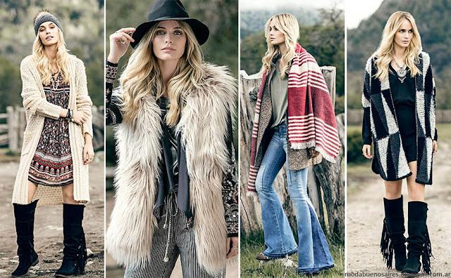Moda invierno 2016 India Style. Camperas, sacos, tapados, vestidos y pantalones otoño invierno 2016. Moda 2016.