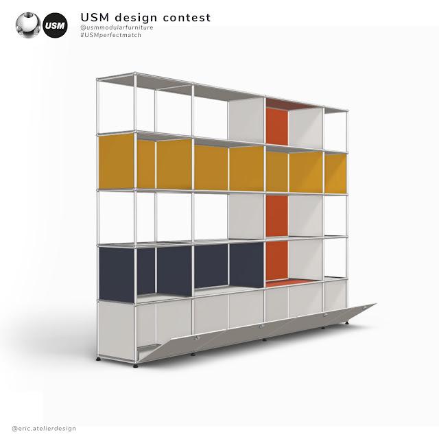 #USMperfectmatch - projet mobilier USM by Eric Vitasse