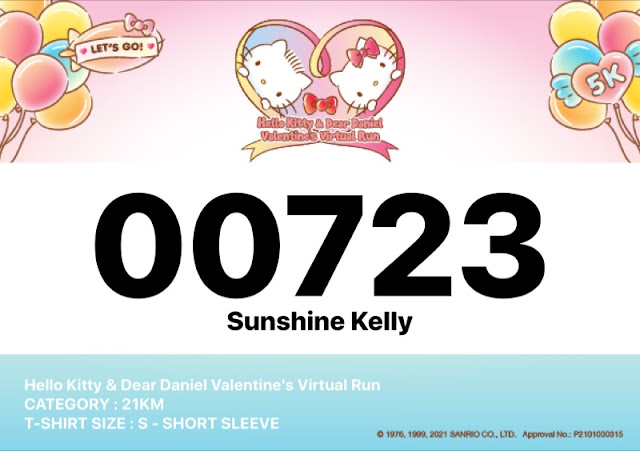 Hello Kitty & Dear Daniel Valentine's Virtual Run Registration, Hello Kitty Run, Valentine's Day Run, Running, Fitness