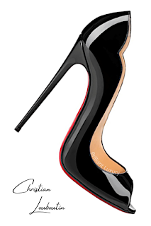 Christian Louboutin Hot Wave peep toe high heel #brilliantluxury