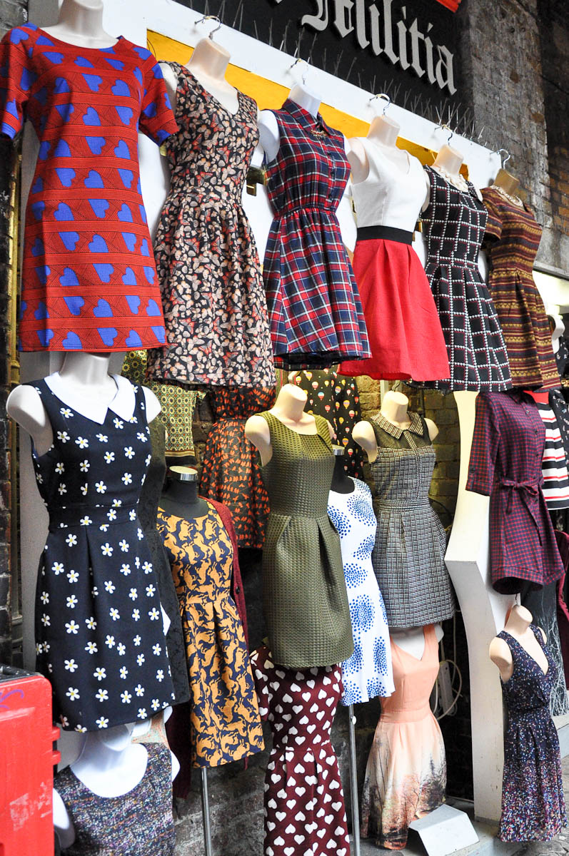 Clothes shop, Stables Market, Camden Town, London, England