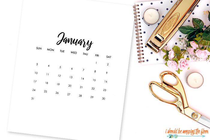 Blank January Calendar Printable
