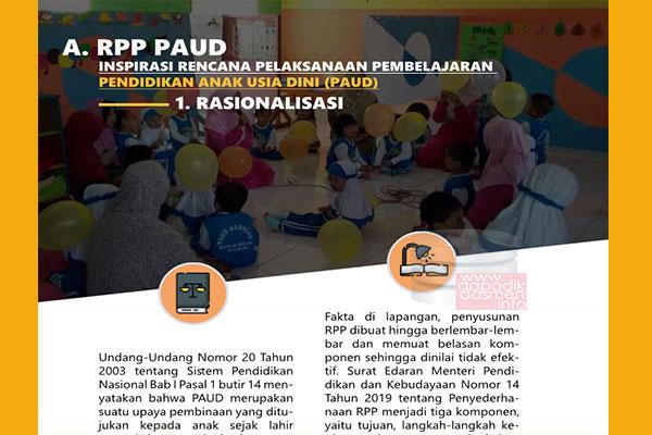 RPPM PAUD 1 Halaman Resmi dari Pusat Kurikulum KEMENDIKBUD, Download RPP Inspiratif 1 Halaman jenjang PAUD Resmi dari Pusat Kurikulum KEMENDIKBUD