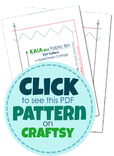 PDF sewing pattern -  A new PDF sewing pattern and an easy beginner sewing project. It's a cute little handy DIY fabric bin, ​​an easy and quick sew.​ And a great scrap buster. ​​Makes an excellent handmade present​!​
