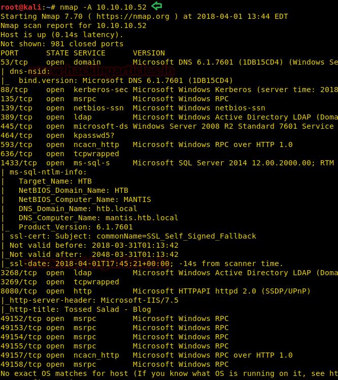 Hack the Box Challenge: Mantis Walkthrough – MCYSECN-Maritime Cyber