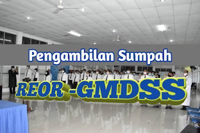 Pengambilan sumpah peserta ujian lulus GMDSS ORU Binasena