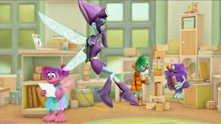 Abby's Flying Fairy School Super Fairy, Abby Cadabby, Blögg, Gonnigan, Mrs. Sparklenose, Sesame Street Episode 4412 Gotcha season 44