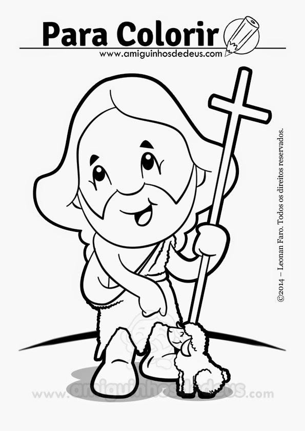 Sao Joao Batista Para Colorir Amiguinhos De Deus