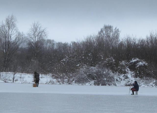 открытие зимнего сезона рыбаки
