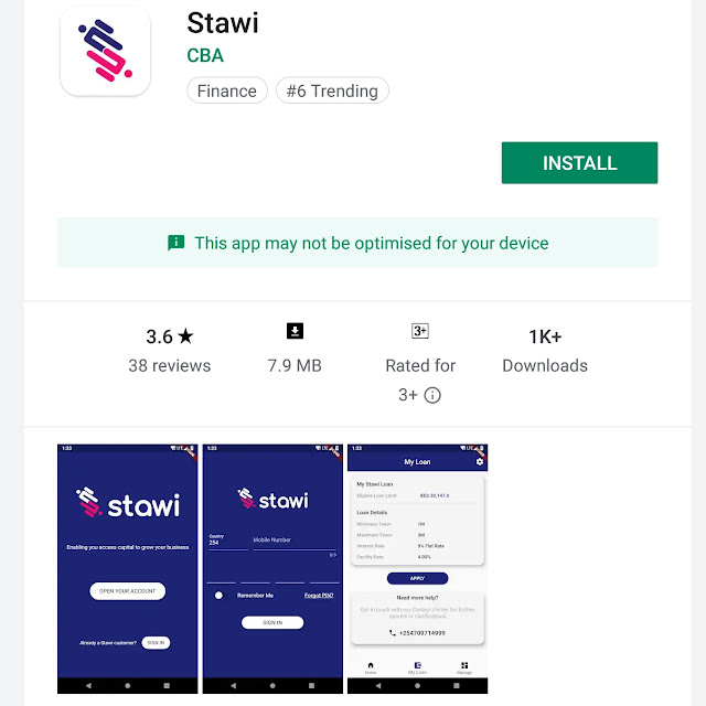 Stawi loan app download
