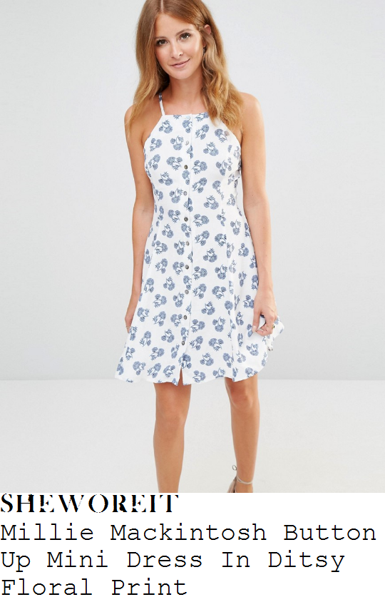 millie-mackintosh-millie-mackintosh-white-and-blue-ditsy-floral-print-sleeveless-square-neckline-button-up-mini-dress