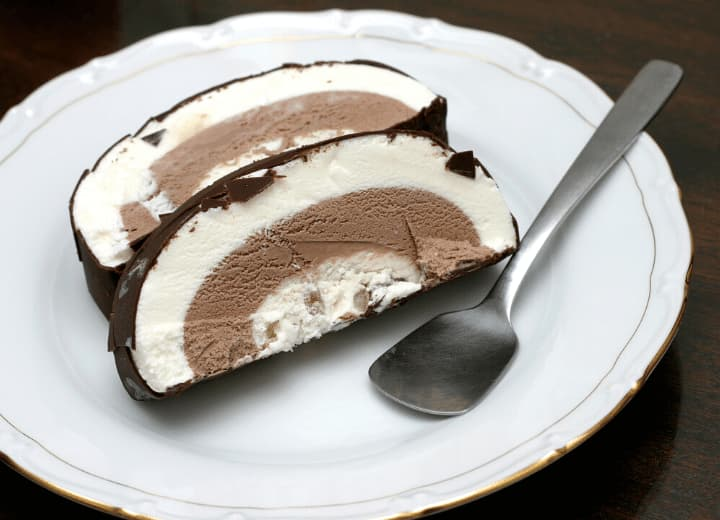 bolo de sorvete branco e preto