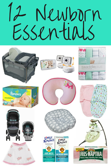 12 Newborn Essentials - list of must-have baby products for your registry. Necessities for bringing your newborn baby home