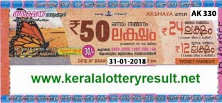 KERALA LOTTERY, kl result yesterday,lottery results, lotteries results, keralalotteries, kerala lottery, keralalotteryresult, kerala lottery result, kerala lottery   result live, kerala lottery results, kerala lottery today, kerala lottery result today, kerala lottery results today, today kerala lottery result, kerala lottery result   31-01-2018, Akshaya lottery results, kerala lottery result today Akshaya, Akshaya lottery result, kerala lottery result Akshaya today, kerala lottery Akshaya   today result, Akshaya kerala lottery result, AKSHAYA LOTTERY AK 330 RESULTS 31-01-2018, AKSHAYA LOTTERY AK 330, live AKSHAYA   LOTTERY AK-330, Akshaya lottery, kerala lottery today result Akshaya, AKSHAYA LOTTERY AK-330, today Akshaya lottery result, Akshaya lottery today   result, Akshaya lottery results today, today kerala lottery result Akshaya, kerala lottery results today Akshaya, Akshaya lottery today, today lottery result   Akshaya, Akshaya lottery result today, kerala lottery result live, kerala lottery bumper result, kerala lottery result yesterday, kerala lottery result today, kerala   online lottery results, kerala lottery draw, kerala lottery results, kerala state lottery today, kerala lottare, keralalotteries com kerala lottery result, lottery   today, kerala lottery today draw result, kerala lottery online purchase, kerala lottery online buy, buy kerala lottery online