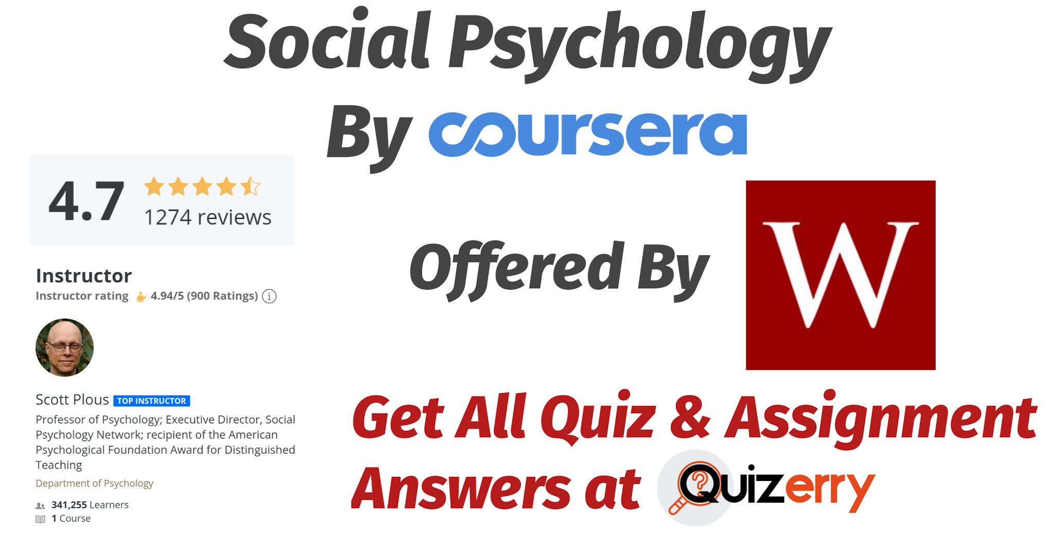 Social Psychology Coursera Quiz Answer (Updated Answers)
